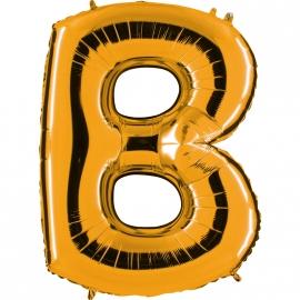 Ballon lettre métal or 102cm - B