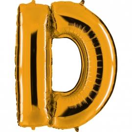 Ballon lettre métal or 102cm - D