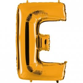 Ballon lettre métal or 102cm - E