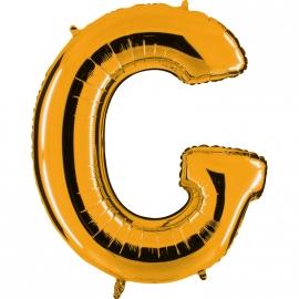 Ballon lettre métal or 102cm - G