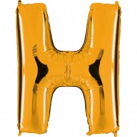 Ballon lettre métal or 102cm - H