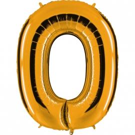 Ballon lettre métal or 102cm - O