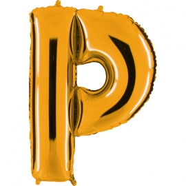 Ballon lettre métal or 102cm - P