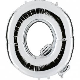 Ballon lettre métal argent 102cm - Q