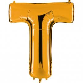 Ballon lettre métal or 102cm - T