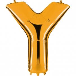 Ballon lettre métal or 102cm - Y