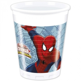 8 Gobelets Spiderman 20cl
