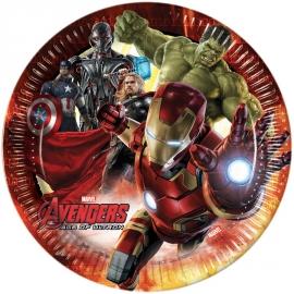 8 Assiettes Avengers 23cm