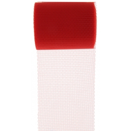 Ruban tulle 10m - Rouge