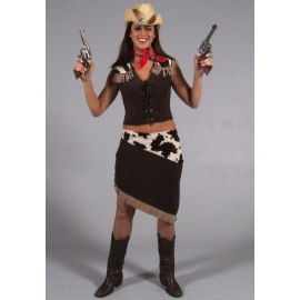 Location costume Cowgirl Jupe vache
