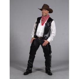 Location costume Cowboy cuir noir