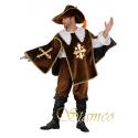 Location costume Mousquetaire marron