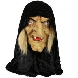 Masque latex sorcière avec capuche