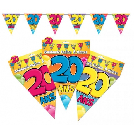 Guirlande fanions 20ans