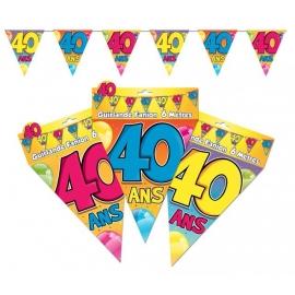 Guirlande fanions 40ans
