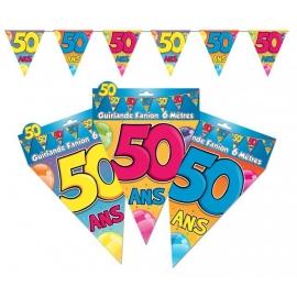 Guirlande fanions 50ans
