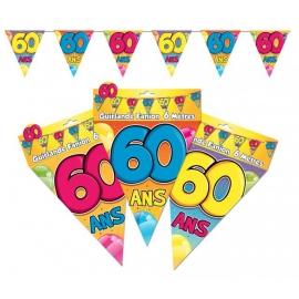 Guirlande fanions 60ans