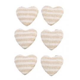 Set de 6 coeurs à disperser