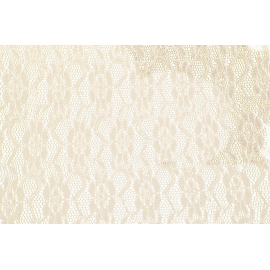 Chemin de table dentelle 30cmx5m blanc