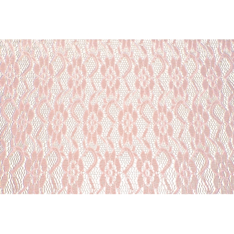 Chemin De Table Dentelle 30cmx5m Rose