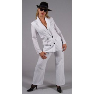 Location costume Gangster blanc femme