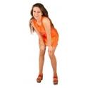 Robe sequin néon orange