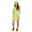 Robe sequin néon vert