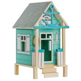 Maison de plage en bois 19x21x37cm