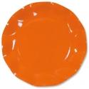 10 assiettes 21cm en carton - Orange
