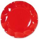 10 assiettes 21cm en carton - Rouge