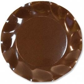 10 assiettes 21cm en carton - Prune