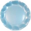 10 assiettes 21cm en carton - Bleu ciel perlé