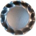 10 assiettes 21cm en carton - Gris perlé