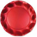10 assiettes 21cm en carton - Rouge satin
