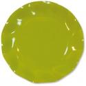 10 assiettes 27cm en carton - Vert lime