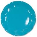 10 assiettes 27cm en carton - Turquoise