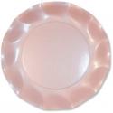 10 assiettes 27cm en carton - Rose perlé
