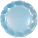 10 assiettes 27cm en carton - Bleu ciel perlé