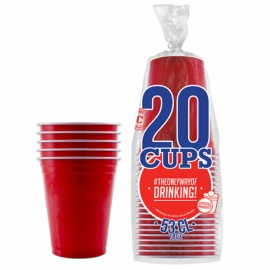 20 gobelets Original Cup 53cl - Rouge