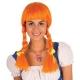 Perruque Heidi orange