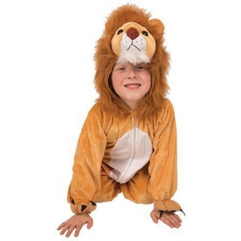 Costume peluche lion enfant