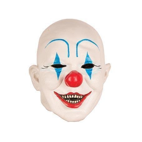Masque Clown Blanc bleu