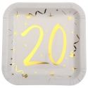 10 assiettes âge or et blanc - 20 ans