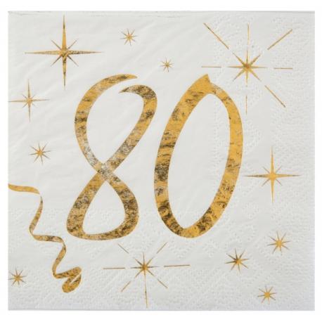 20 serviettes âge noir et blanc - 18 ans
