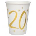 10 gobelets âge or et blanc - 20 ans