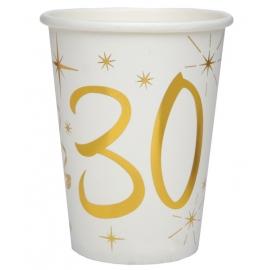 10 gobelets âge or et blanc - 30 ans