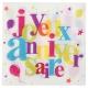 20 serviettes joyeux anniversaire - Festif multicolore
