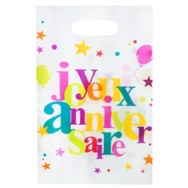 10 sacs joyeux anniversaire - Festif multicolore