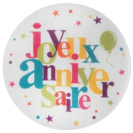10 stickers joyeux anniversaire - Festif multicolore