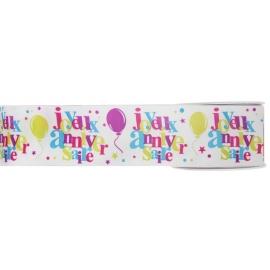 Ruban joyeux anniversaire - Festif multicolore